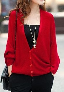Batwing Sleeve Loose Fit Sh...