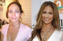 J Lo bez makijażu.
