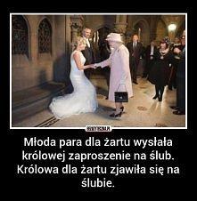 Królowa ma poczucie humoru ;D