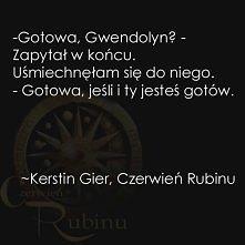 """Cytat z powieści Kerstin Gier pt. """"Czerwień Rubinu"""""""