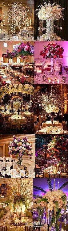 10 propozycji na dekoracje stołu weselnego! Robią wrażenie... *u*