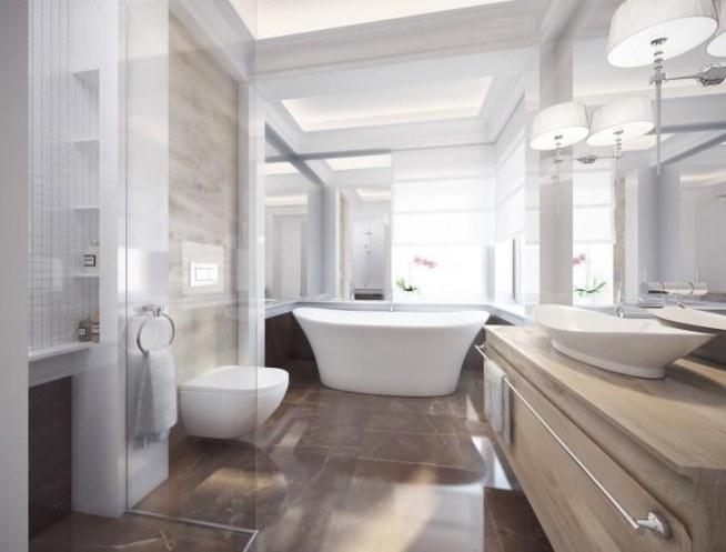 Wystrój łazienki W Kamieniu Eleganckie Wnętrze W Stylu
