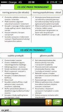 Co jeść przed i po treningu :)
