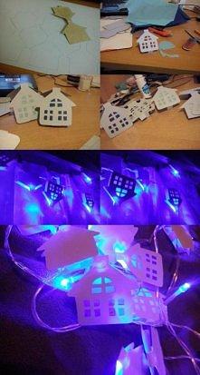 Świecące domki