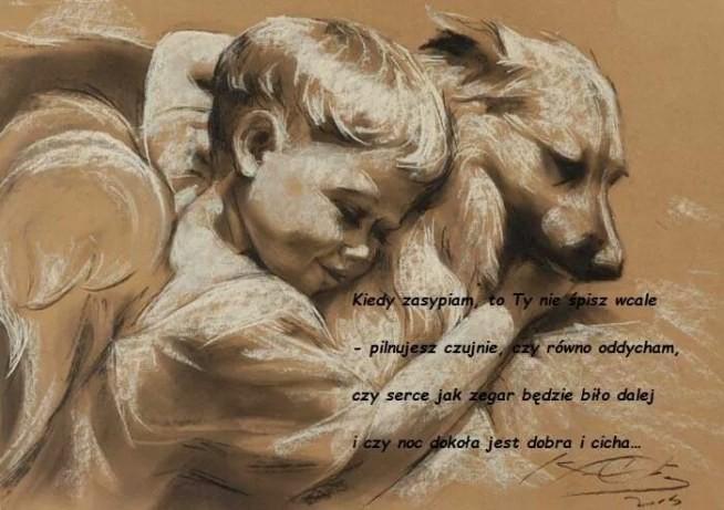 Anioł Piękny Wiersz Kiedy Zasypiamto Ty Nie śpisz Wcale