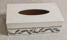 Białe pudełko na chusteczki...