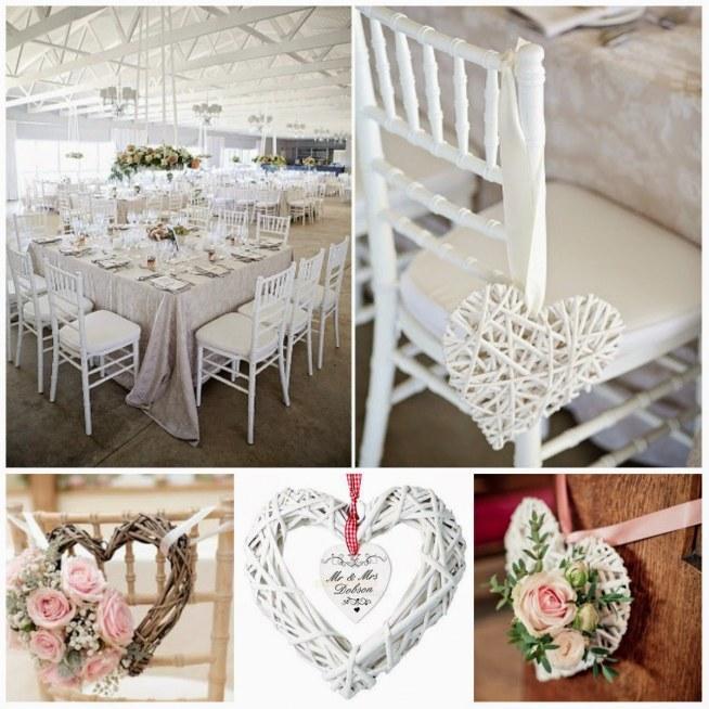 dekoracja ślubna- serducha