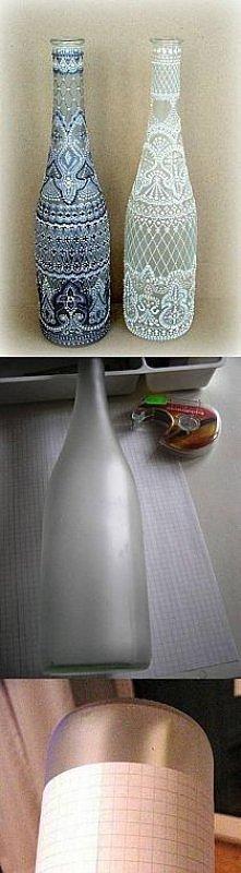 śliczne butelki. Może sama spróbuje zrobić, bo po prostu są cudowne :)