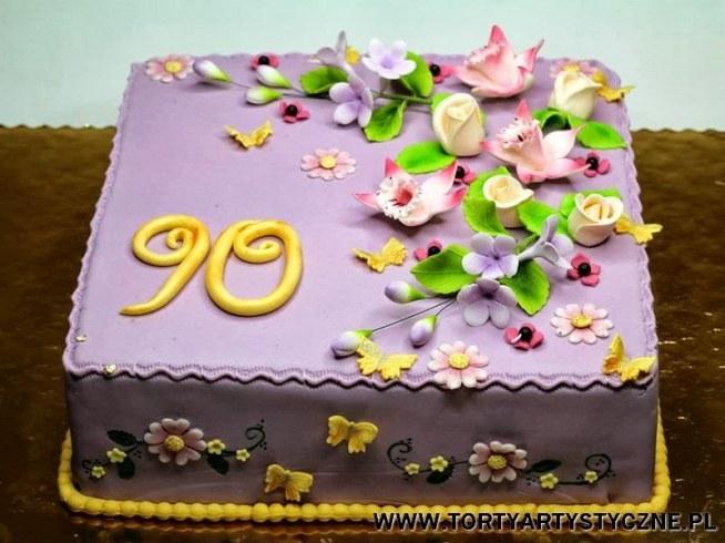 Tort Na 90 Urodziny Na Kuchnia Zszywka Pl
