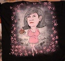 karykatura namalowana na koszulce