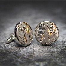 Oryginalne spinki do mankietów wykonane z elementów mechanizmu zegarka.  Dostępne w ślubnym sklepie internetowym Madame Allure.  #spinkidomankietów #steampunk #ślub #wedding  Li...
