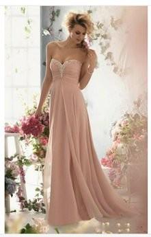 sukienka pudrowy róz
