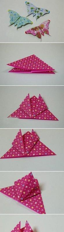 Motyl origami.