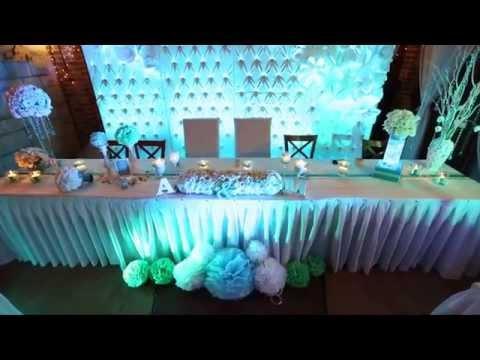 Filmik przedstawiający wykonane przez Uroczyste Dekoracje dekoracje weselne