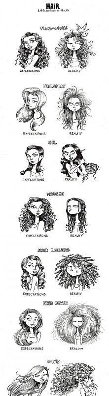 Włosy- oczekiwania vs. rzeczywistość