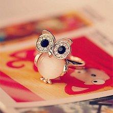 Cute Owl Opal Opening Animal Ring