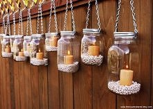 pomysł na śweczniki ze słoi...