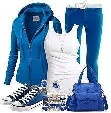 niebieska stylizacja