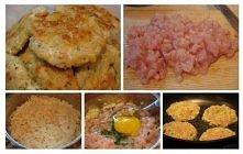 Kotlety ryżowe z kurczakiem, pycha :)
