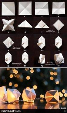 Małe papierowe lampioniki...