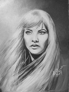 Obraz akrylowy, portret Barbary Brylskiej