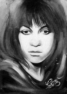 Ewa Demarczyk, obraz akrylowy