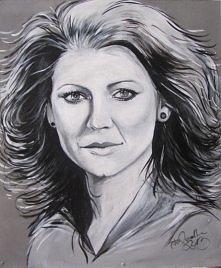 Portret akrylowy Haliny Frąckowiak