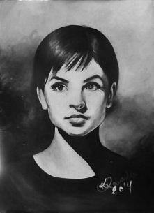 Obraz akrylowy, portret Teresy Tuszyńskiej