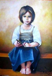 Obraz akrylowy inspirowany obrazem The hard lesson - Williama -Adolphe Bougue...