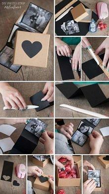 pudełko z wspólnymi zdjęcia...