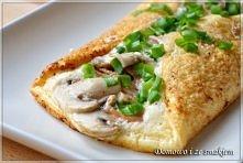 Omlet francuski z dodatkami Składniki: Ciasto: 3 jajka sól, pieprz 2-3 łyżki ...