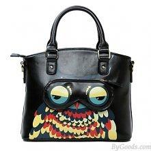 Fashion Owl Leather Handbag Shoulder Bag