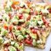 Lekka Pizza Awokado - Z awokado, pomidory, czerwona cebulka, ser, pesto, z czosnkiem, kolendra.  Yum! Yum! YUUUUUM!