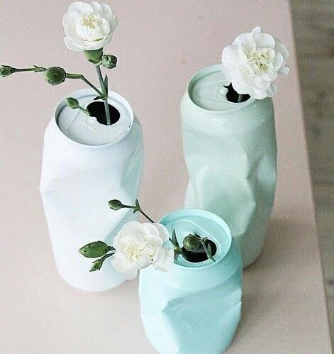 Puszka jako wazon