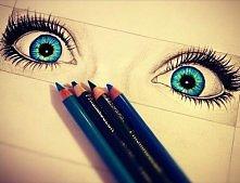 Beautiful drawing blue eyes...