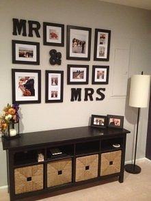 Pomysł na ściane ze zdjęciami ślubnymi !