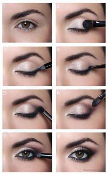 śliczny makijaż oka krok po...