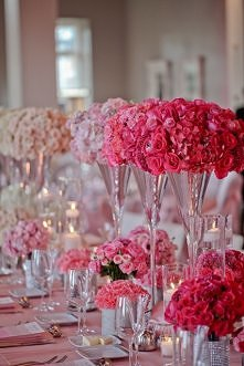 stół weselny ombre