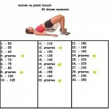 Wyzwanie 30 dniowe na płaski brzuch polecam :*