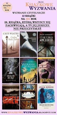 Co myślicie o moim zestawieniu? Czytaliście którąś z tych książek?