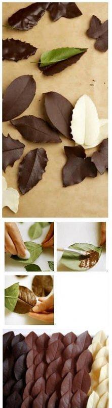 czekoladowe listki
