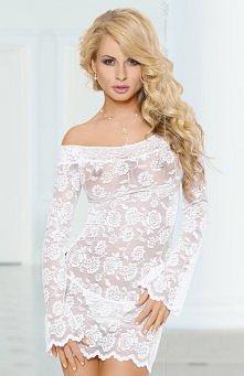 Softline Lamia koszulka biała Zmysłowa bielizna damska