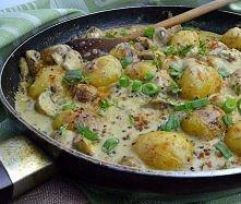 młode ziemniaki w sosie pie...