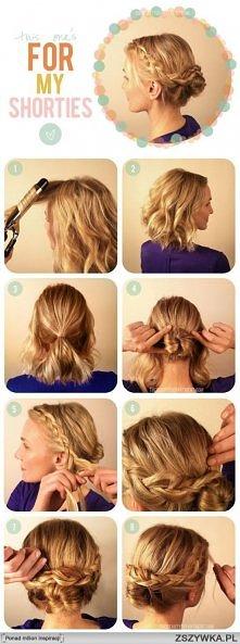śliczna fryzura krok po kroku :)