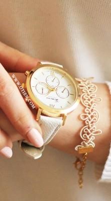 OTIEN - Piękny biały zegare...