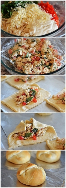 Creamy Garlic-Chicken Bundles