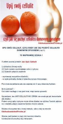 Antycellulitowy koktajl - Skuteczny sposób na cellulit i pozbycie się cellulitu