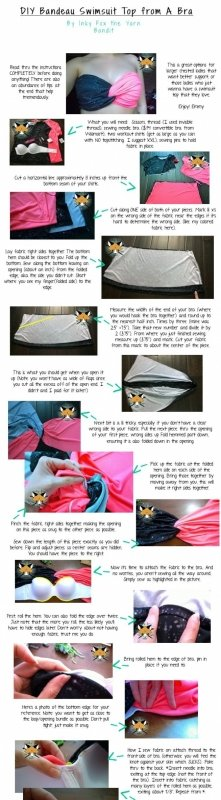 DIY swimsuit top made from a bra