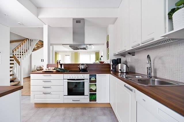 Kuchnia Projekt Otwartej Kuchni Brąz Z Bielą Pięknie