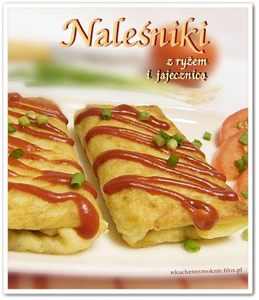Naleśniki z ryżem i jajecznicą  (przepis po kliknięciu w zdjęcie)